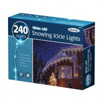 240 Snowing Icicle Lights - White Led