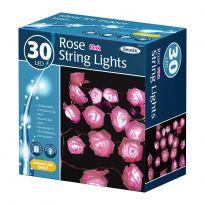 30 LED Rose String Lights - Pink LED