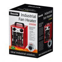 Square Industrial Fan Heater - 2000w
