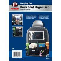 Hanging Car Back Seat Organiser With Ipad Holder