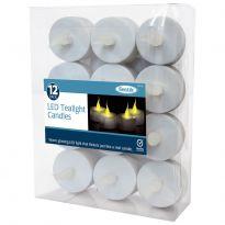 12Pk Tea Lights - White