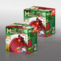 150Ft Expanding Hose W/ Brass Fitting - Red