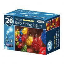 20Led Bulb String Lights - Multi Coloured Led