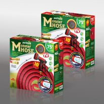 75Ft Expanding Hose W/ Brass Fitting - Red