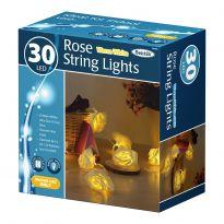 30Led Rose String Lights - Warm White Led
