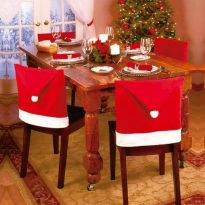 4pc Santa Hat Dining Chair Covers
